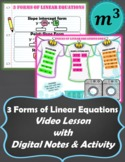 Video Lesson: 3 Forms of Linear Equations