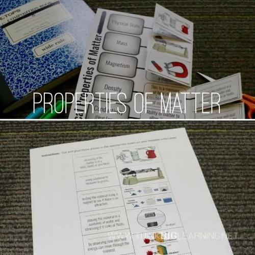 Properties of Matter Foldable Notes