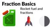 Fractions Basics - Splitting up a rocket's fuel tanks [Gra