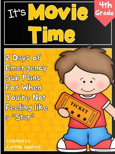 Sub Plans for 4th Grade