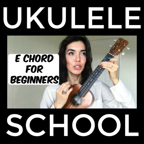 Ukulele School E Chord Tutorial By Bernadette Teaches Music Tpt