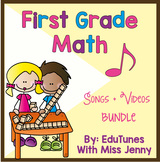 1st Grade Math Songs and Videos COMPLETE Set: ALL Common C