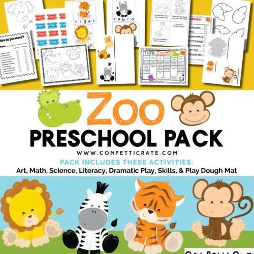 Zoo Activities Preschool (color and black & white version)