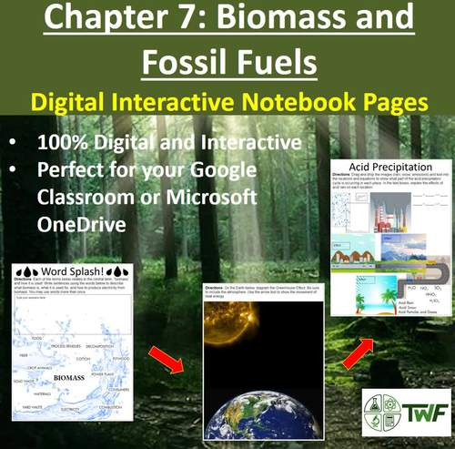 Biomass and Fossil Fuels - Digital Interactive Notebook Pages
