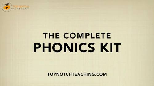 The Complete Phonics Bundle Including Phonics Worksheets