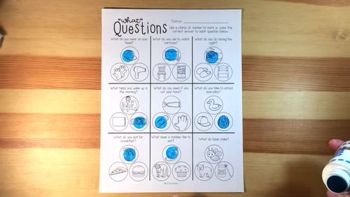 No Prep What & Where Worksheets