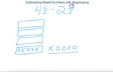 Visual Fractions – Subtracting Mixed Numbers with Regrouping