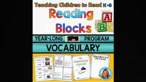 Vocabulary Activities Kindergarten - 3rd YEARLONG Reading Blocks Program