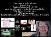 Spanish One Comprehensible Input Lesson 90%Target Language