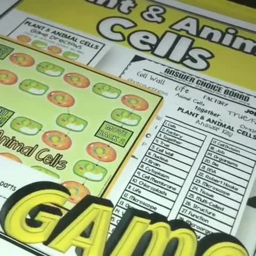 Plant and Animal Cells Game: A Life Science Activity