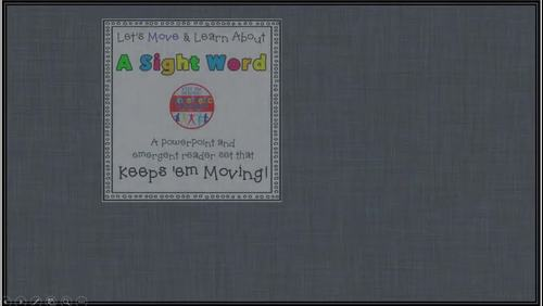 Sight Word Activity - PowerPoint and Emergent Reader for the sight word LOOK