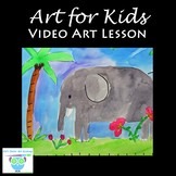 Video Art Lesson: Learn to Draw and Watercolor Paint a Jun