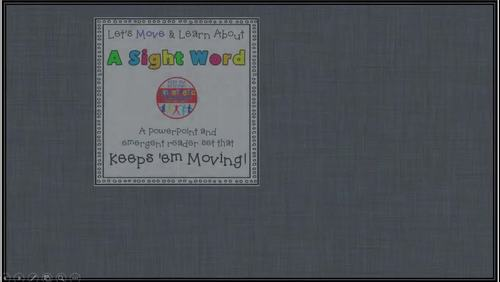 Sight Word Activity - PowerPoint and Emergent Reader for the sight word BUT