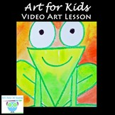 Video Art Lesson: Learn to Draw and Watercolor Paint a Frog