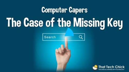 "Digital Escape Room ""The Case of the Missing Key"" Internet Search Computer Game"