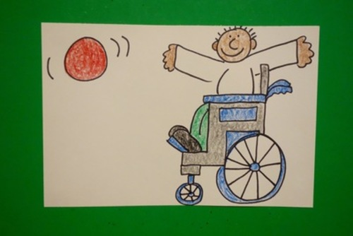 Let S Draw A Kid In A Wheelchair Playing Catch By Patty Fernandez