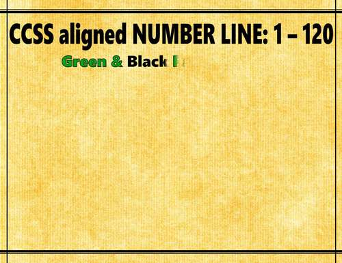 NUMBER LINE 1-120 Panda Theme Classroom Decor Green Black Number Order
