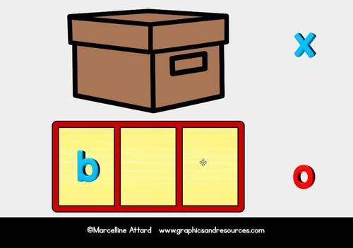 BOOM CARDS KINDERGARTEN DIGITAL WORK WORK BUNDLE (BUILD CVC WORD MAGNETIC LETTER