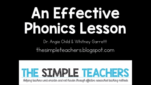 Explicit Phonics Lesson Video By The Simple Teachers By The Simple