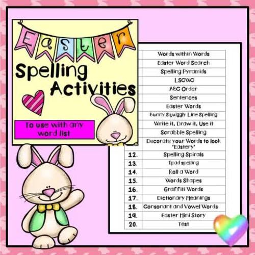 Easter Spelling Activities (for ANY Word List)