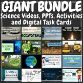 Science Videos, PPTs, Activities, and Digital Task Cards G