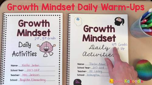 Growth Mindset Bell Ringers: Daily Warm-Up BUNDLE for 2nd Grade and UP