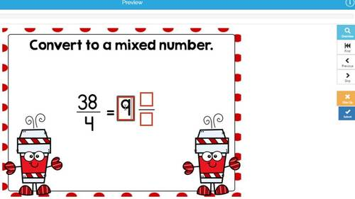 4th Grade Go Math Chapter 7 Review Boom Cards: Add and Subtract Fractions
