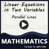 Math Parallel Pair of Linear Equation (Algebra) Graphing L