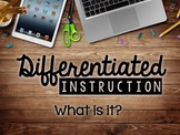 Differentiated Instruction Video Series #1: What is it?