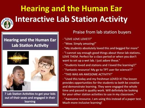 Hearing and the Human Ear - 7 Engaging Lab Station Activities