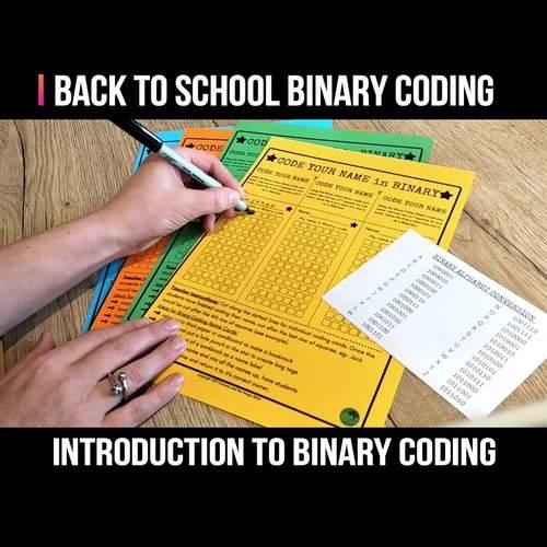 Binary Coding Unplugged