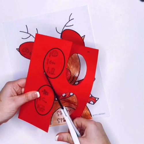 Reindeer Christmas Speech Craft (articulation language) Craftivity