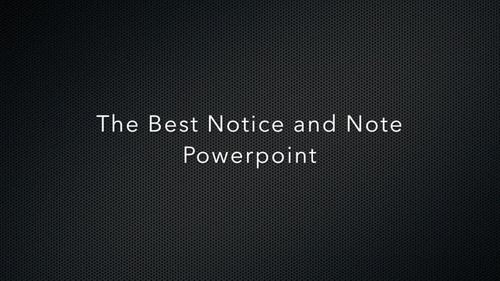 Notice & Note Fiction Powerpoint