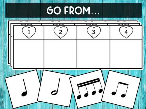 Rhythm Beat Strips (Half Note)  - Boom Digital Task Cards