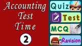 Accounts - Bank Reconciliation Statement Quiz - Test (BRS)