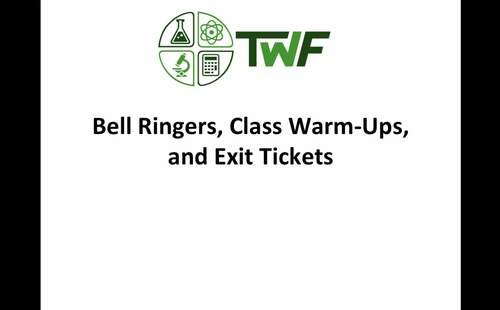 Ecology Bell Ringers, Class Warm-Ups, and Exit Tickets