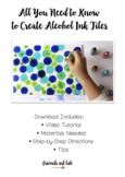 Alcohol Ink Tile Tutorial (Includes Video & PDF) - Great f