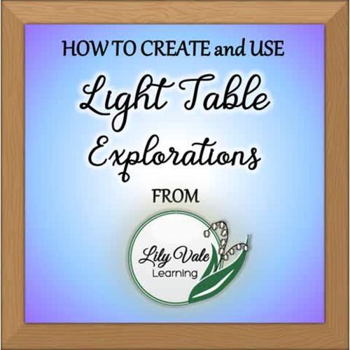 """Light Table Explorations-STAINED GLASS SQUARES"" by LilyVale Learning"