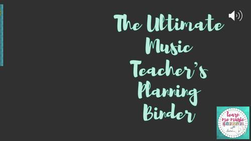Ultimate Music Teacher Binder and Organizer