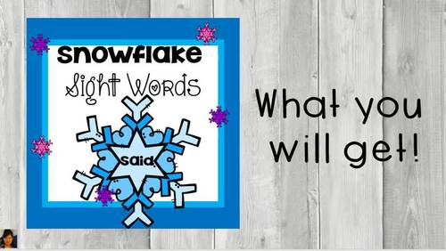 Sight Words with Snowflakes