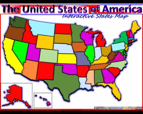 Usa Animated Interactive Map All 50 States Statehood Nickname And