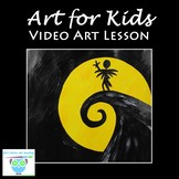 Video Art Lesson: Paint The Nightmare Before Christmas Wit