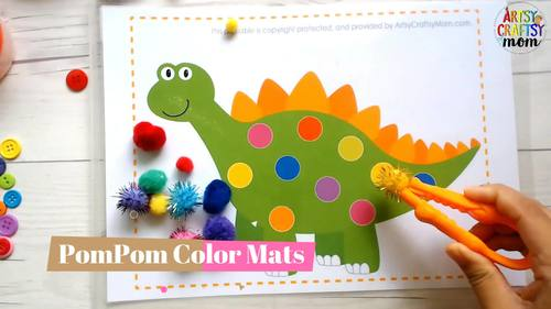 Printable Sea Creatures Pom Pom and Play Dough Mats