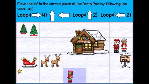 Coding Practice with Loops Computer Code Looping Christmas Boom Cards