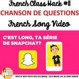 "11 French Class Transition Video ""Questions"" for CI TCI TP"
