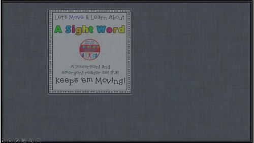 Sight Word Activity - PowerPoint and Emergent Reader for the sight word WE