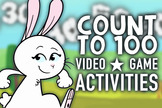 Counting to 100 Activities: Game, Math Centers & Video: Ki