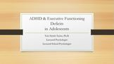 Adolescents with A.D.H.D and Executive Functioning