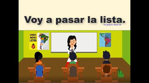 114 Spanish Class Video Voy a Pasar la Lista Attendance Role in Spanish