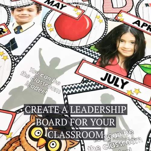You Can be a Classroom Leader of the Month Bulletin Board